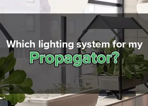 WHICH LIGHTING SYSTEM FOR MY PROPAGATOR?